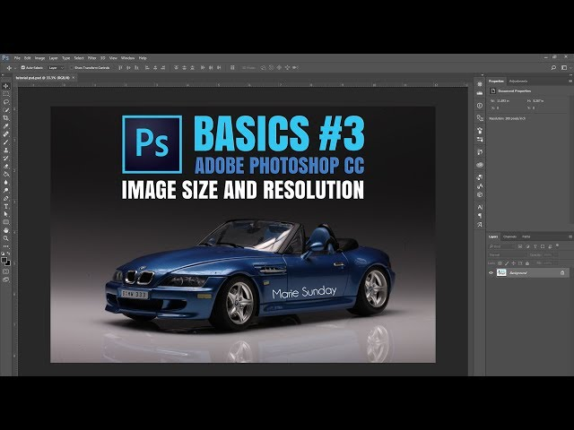 Adobe Photoshop CC #03 Image Size and Resolution