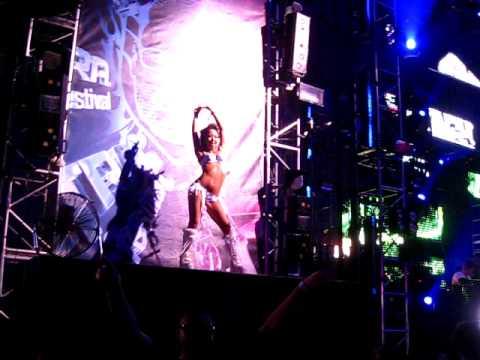 Go Go Dancer  Sasha and John Digweed @ Ultra Music Festival - WMC 2010 - March 27th 2010 Miami