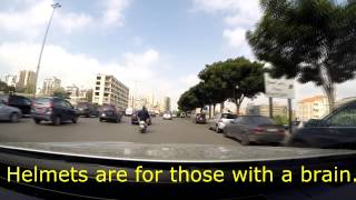 Driving in Beirut, Lebanon - It