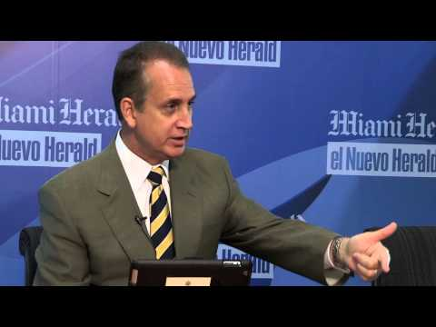 U.S. Representative Mario Díaz-Balart speaks to the Miami Herald Editorial Board