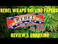 REBEL WRAPS CONFEDERATE ROLLING PAPERS REVIEW & UNBOXING #FULLMELTFUSION
