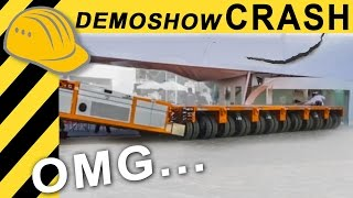 EPIC FAIL! Schwerlast Demoshow endet mit Crash... Heavy Equipment Disaster - Bauforum24