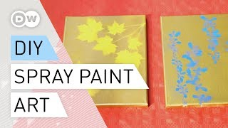 DIY Spray Paint art Tutorial  | How to make Nature-themed spray paint art quick and easy