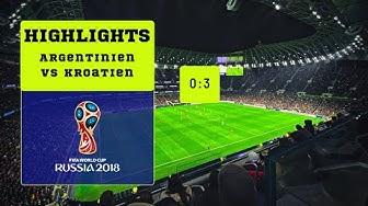 Argentinien gegen Kroatien 0:3 Weltmeisterschaft 2018 Highlights HD wie traurig