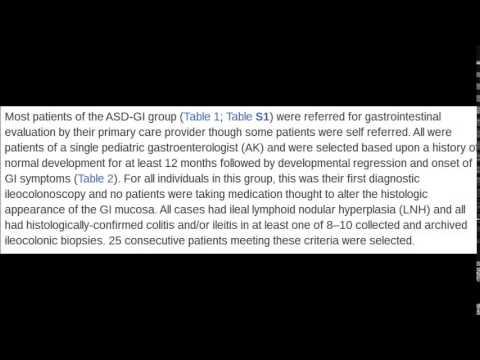 Autism Spectrum Disorder and Gastrointestinal Disease