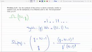 Finding The Multiplicity Of An Einstein Solid In The Low Temperature Limit Q Less Than N P 2-17