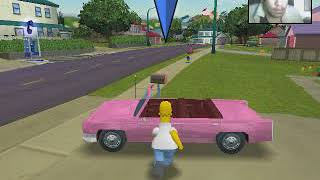 [Webcam Y Game PC] The Simpsons Hit and Run Gameplay Parte 1 (Homer)
