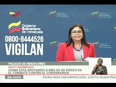 Reporte Coronavirus Venezuela 28/03/2020, Delcy Rodríguez informa de 6 nuevos casos: suman 119