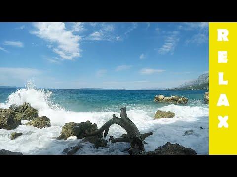 2 HOURS relax SOUNDS Sea Waves crashing onto Rocks Beach - Sleep Meditation Spa Yoga Calming Nature