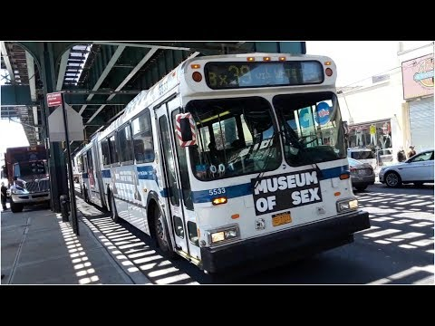 "MTA: 2002 New Flyer D60HF ""Galaxy"" Articulated [5533] Bx39 Bus"