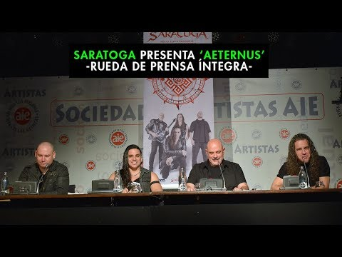 Saratoga - Rueda de prensa - 'Aeternus'