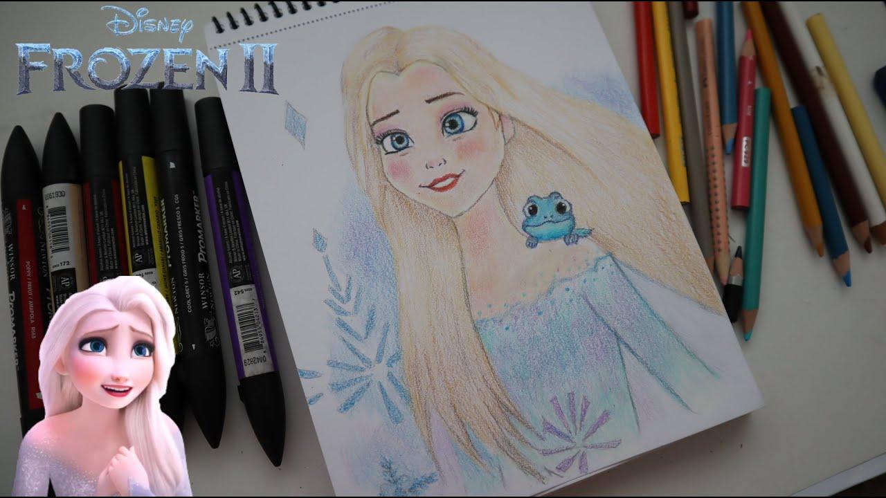 Karlar Ülkesi2- Elsa Çizimi ⛄DRAWİNG:Elsa from Frozen2