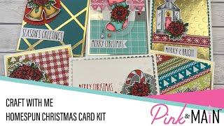 Create with Me   Homespun Christmas Card Kit