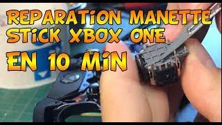 Réparation  en 10min -  manette xbox one  stick gauche défectueux