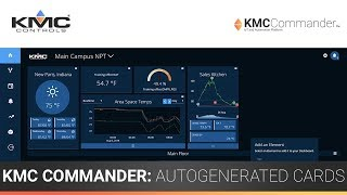 KMC Commander: Dashboard & Autogenerated Cards