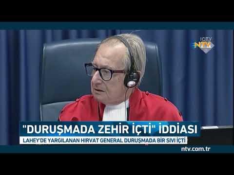 Mahkeme de Zehir İçen Hırvat General Slobodan Praljak Öldü!