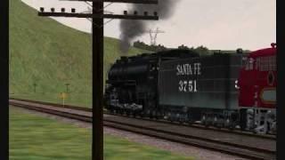 ATSF 3751 going up Cajon Pass MSTS