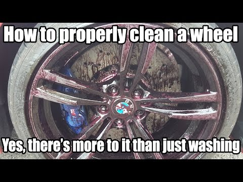 BMW - how to properly clean a wheel and dress a tire