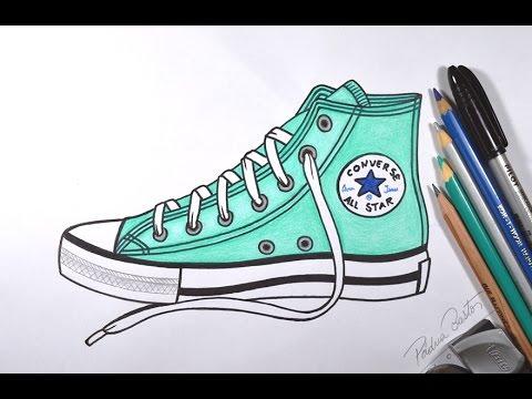 como desenhar um tênis all star passo a passo youtube