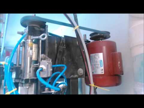 Pneumatic  Drill Unit Designed to Drill 3 Holes at Once.