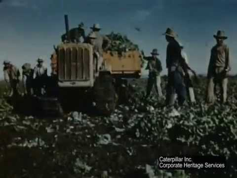 Caterpillar Diesel Track-Type Tractors Farm Lettuce in California | ca  1950