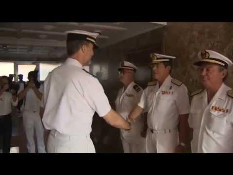 S.M. el Rey visita la Jefatura de Apoyo Logístico de la Armada