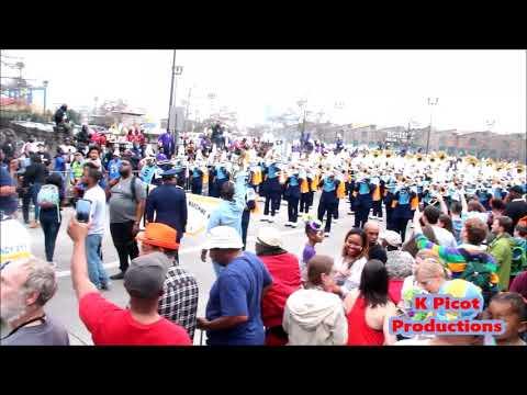 Southern University Marching Band @ Bacchus Parade - Black n Blues & Wish upon a star