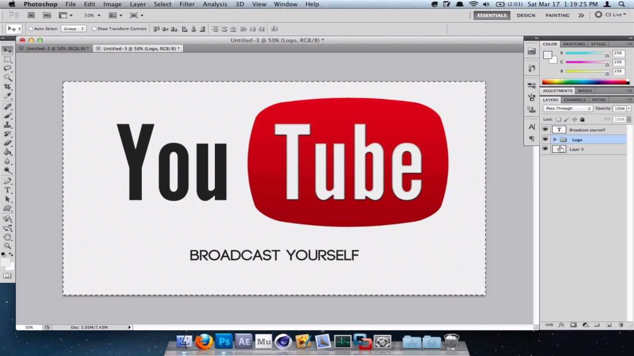 how to make the youtube logo in photoshop youtube rh youtube com how to make a logo for youtube channel how to create a logo for youtube