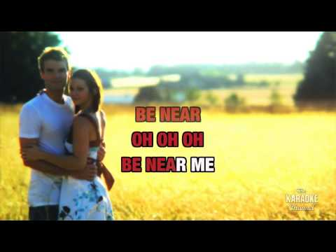 Be Near Me in the style of ABC | Karaoke with Lyrics