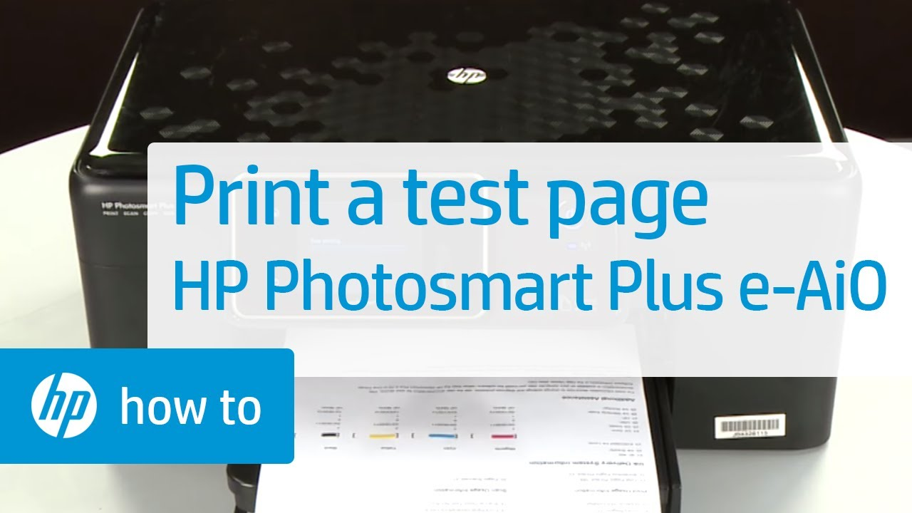 Printing A Test Page Hp Photosmart Plus E All In One
