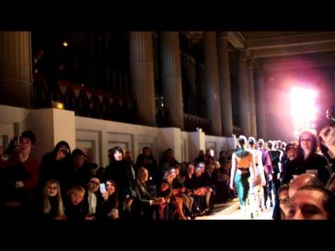 Valentina Nessi at Yves Saint Laurent Fashion show Fall-Winter 2012-13.MOV