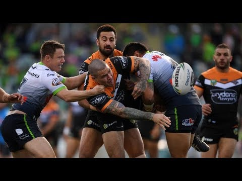 NRL Highlights: Canberra Raiders v Wests Tigers - Round 22