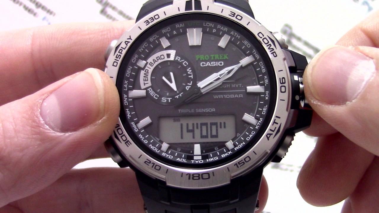 Обзор и настройка CASIO PRO TREK PRW-6000-1E (Review and setting .