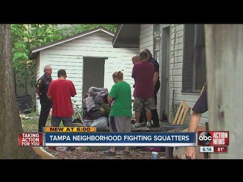 Tampa neighborhood fighting squatters