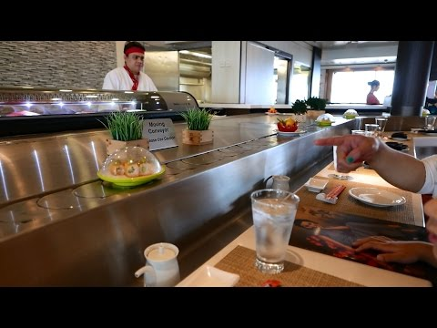 Norwegian Star Sushi Conveyor Belt @ Asian Specialty Restaurant Ginza (HD)