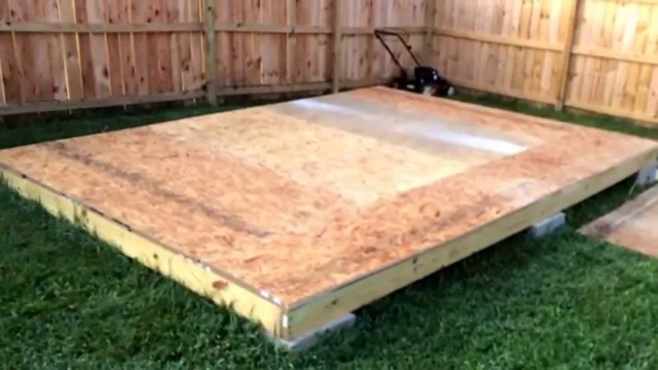 Shed floor - part 4 - YouTube