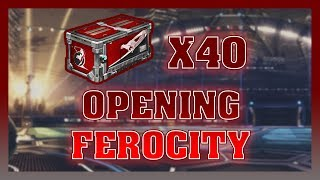 OPENING 40 FEROCITY CRATES - Rocket League OPENING