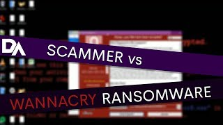 SCAMMER VS WANNACRY RANSOMWARE (thinks he can recover the PC)