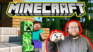 homepage tile video photo for Minecraft Noob slays Ender Dragon First Time Playing the Game