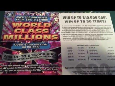 $30 IL. LOTTO SCRATCH-OFF | WORLD CLASS WINNER!!!