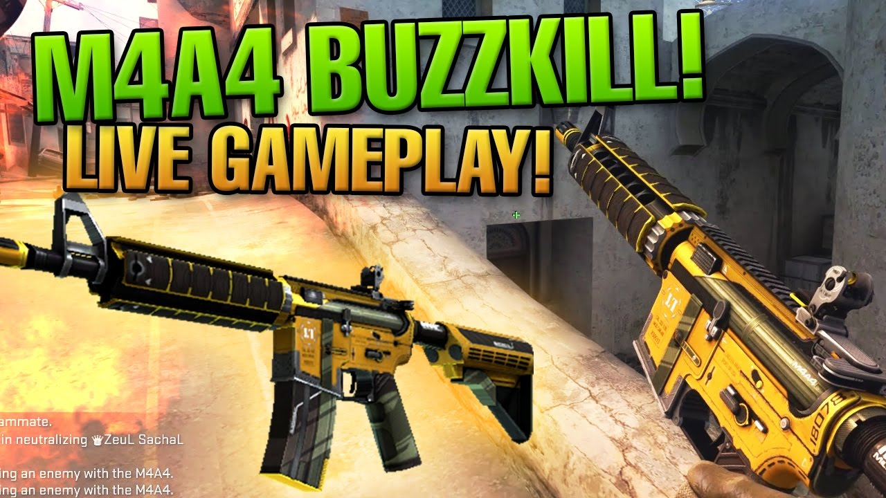 cs go m4a4 buzzkill live gameplay biba youtube. Black Bedroom Furniture Sets. Home Design Ideas