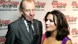 Steve Huison and Debbie Rush at the Inside Soap Awards 2010