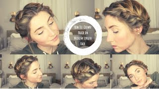 How to do a Halo Braid on Medium Length Hair
