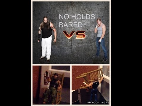 Bray Wyatt vs Dean Ambrose No Holds Bared | wwe action figure stop motion
