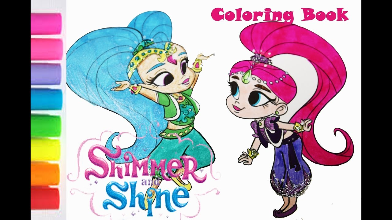 Shimmer and shine coloring book pages sparkle colorare for Shimmer and shine da colorare