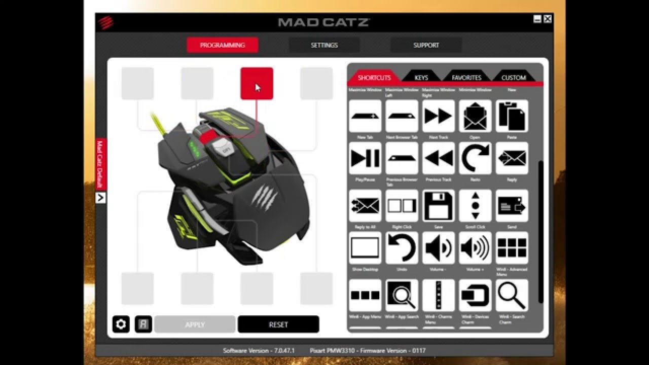 mad catz r a t pro s software overview youtube. Black Bedroom Furniture Sets. Home Design Ideas