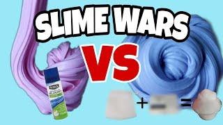 Slime Wars #2/DIY SHAVING FOAM vs REAL SHAVING FOAM