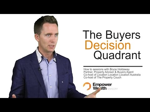 The Buyers' Decision Quadrant - Buyers Agent Tips from Bryce Holdaway