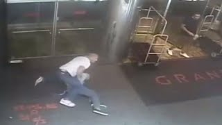 CCTV footage: NYPD officer slams tennis star James Blake