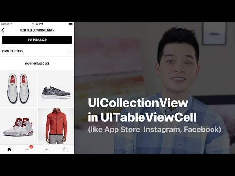 Create UICollectionView inside UITableViewCell - like App Store, Instagram and Facebook